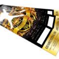 キッズダンスフェスティバルのチケットデザインを作成しました。