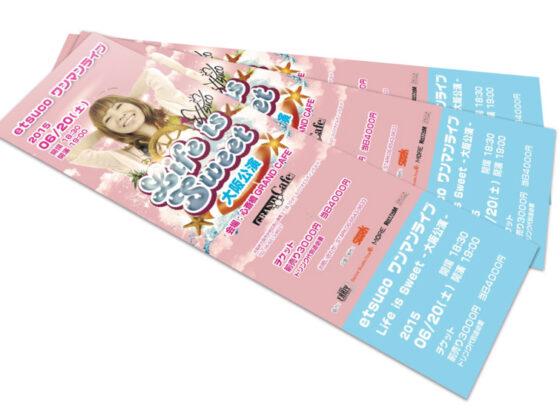 シンガーのワンマンライブイベントのチケットデザイン