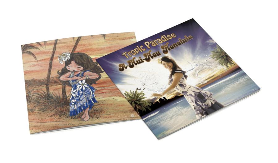 ハワイアンミュージックのアーティストの歌詞カードデザイン