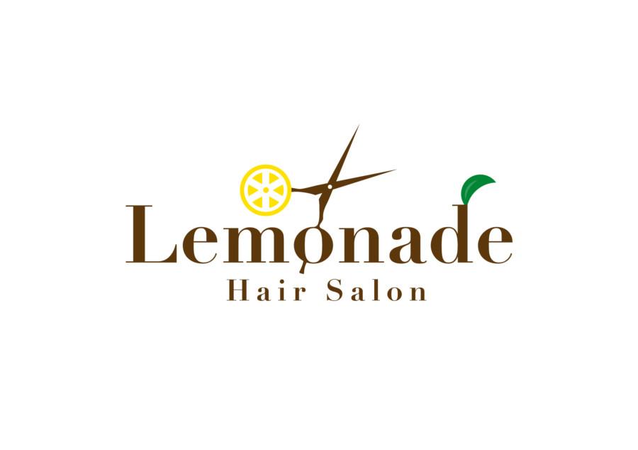 レモンがポイントのヘアサロンのロゴ