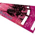 コンサートイベントのチケットデザインを作成しました。