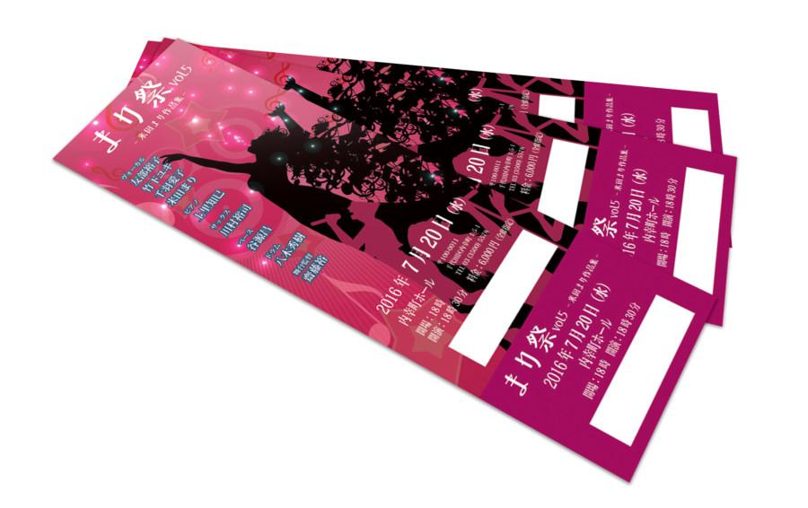 コンサートイベントのチケットデザイン