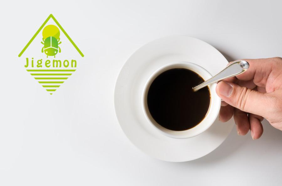 カフェのロゴの展開例