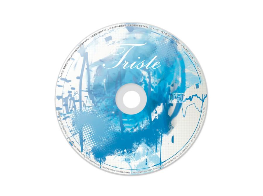 女性アーティストの退廃的なイメージのCD盤面デザイン