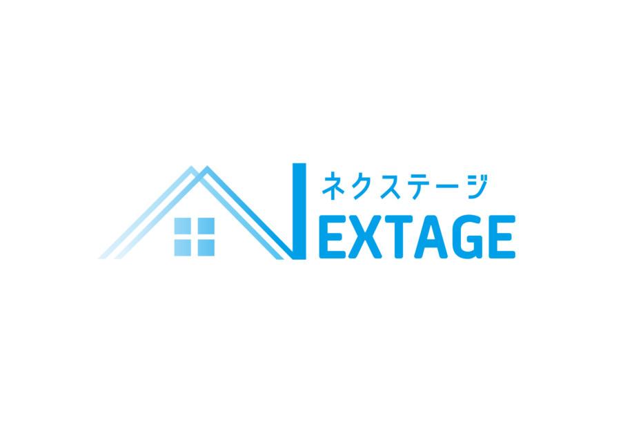 nex-01シンボルとイニシャルを融合した不動産賃貸会社のロゴ作成例