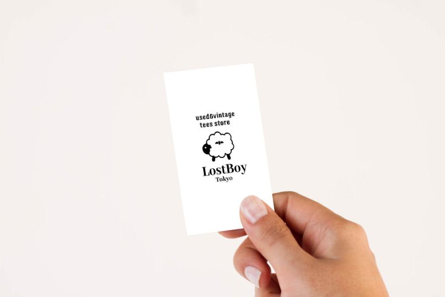 ユーズド・ヴィンテージTシャツ専門店のショップカードデザイン