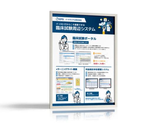医療・医薬業界向けITサービス企業の展示会ポスター作成例