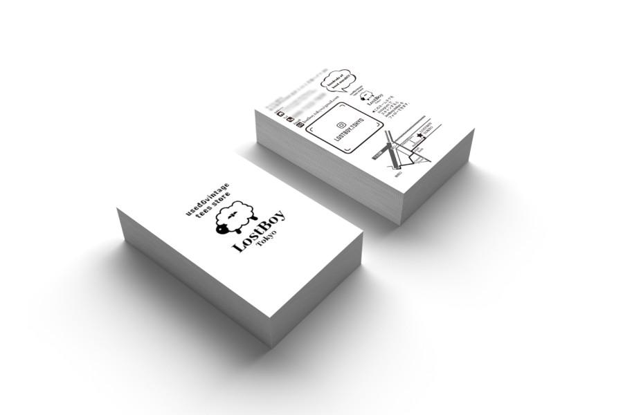 ユーズド・ヴィンテージTシャツ専門店のショップカード作成例