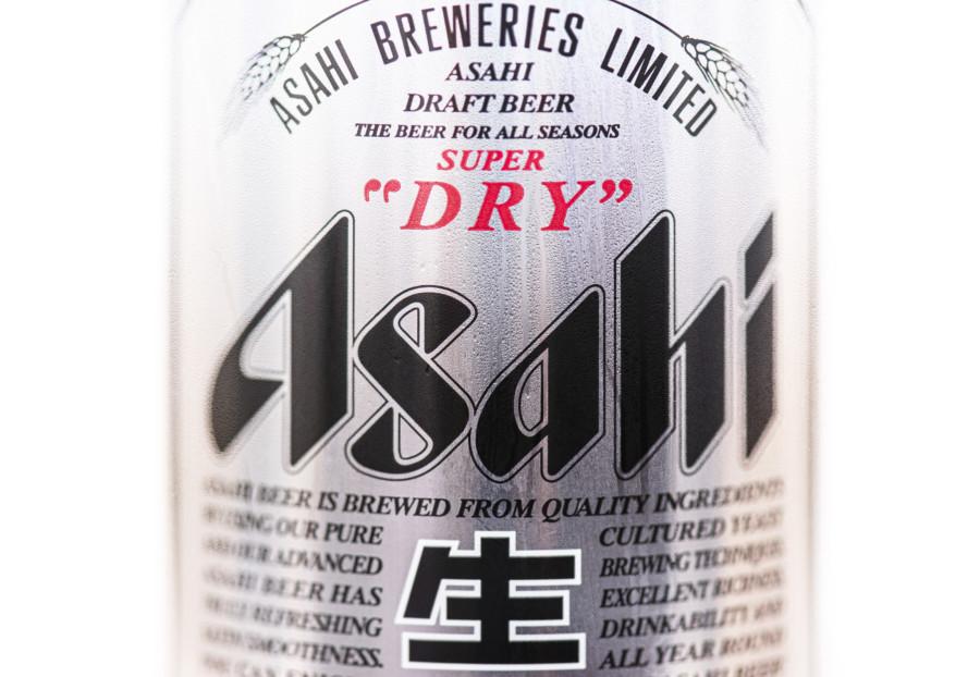 アサヒビールの文字