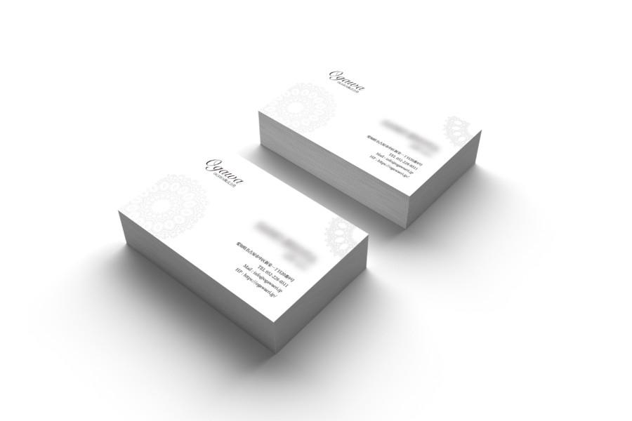 白を基調としたシンプルな企業名刺作成例