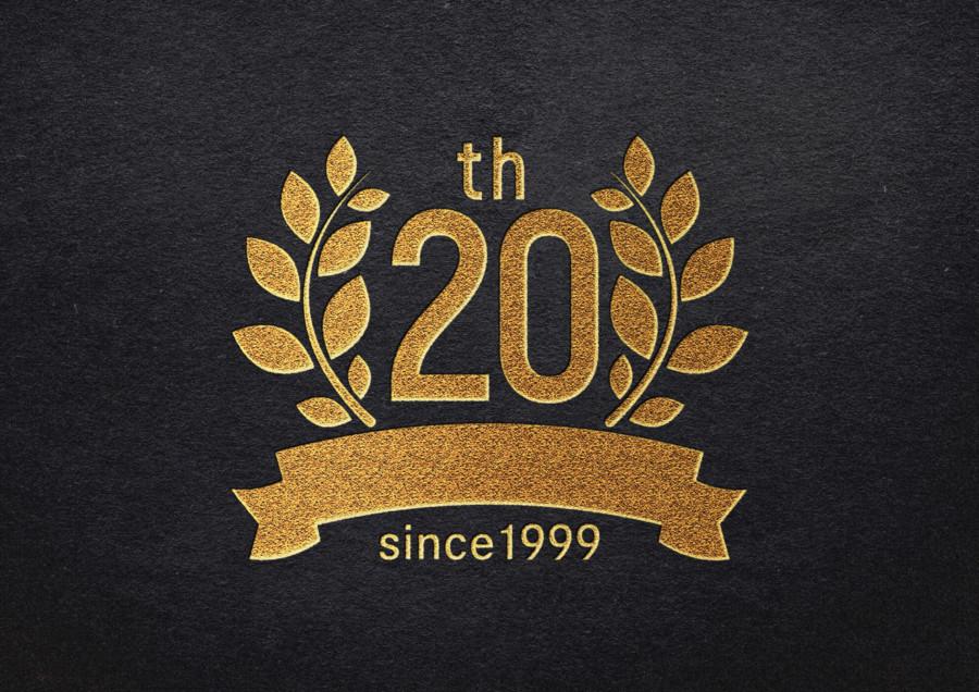 プラモデル通販サイトの20周年記念ロゴ_ブランディング