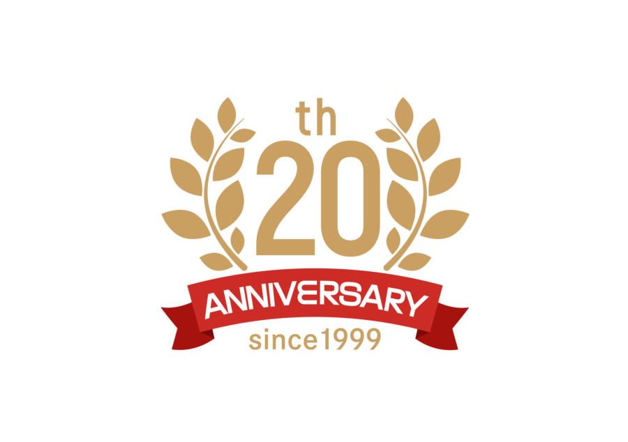 プラモデル通販サイトの20周年記念ロゴ
