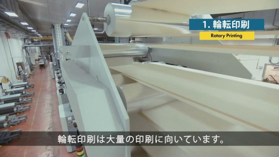 オフセット印刷工程の紹介動画