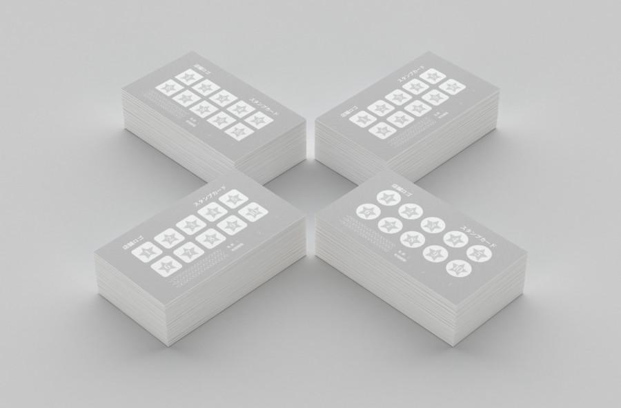 スタンプカードの無料デザインテンプレート【スター】見本2