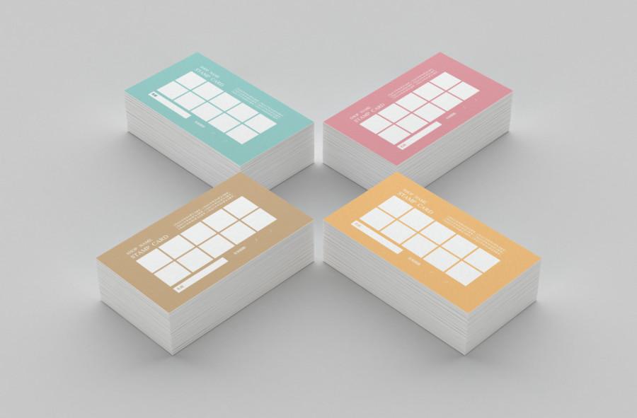 スタンプカードの無料デザインテンプレート【カラー 10個】見本2