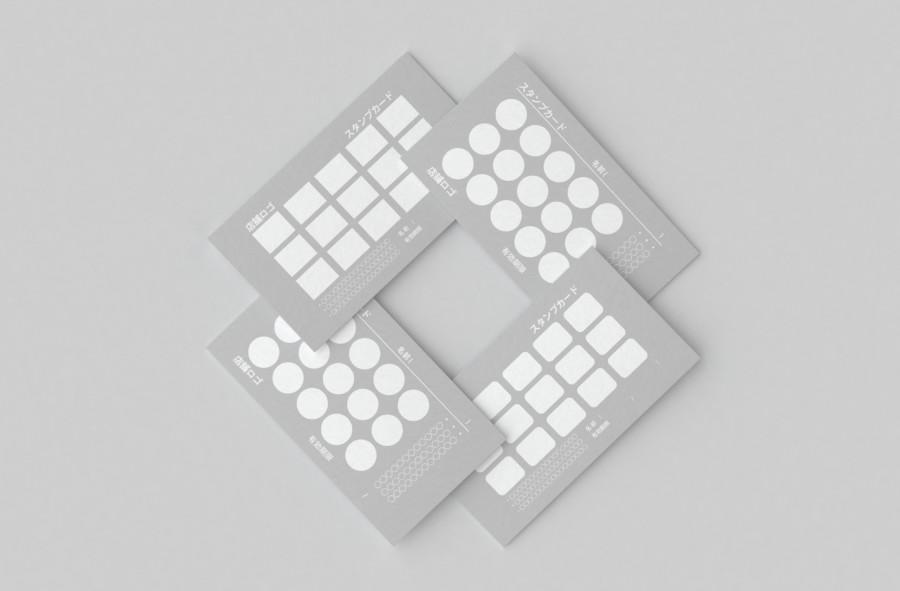 スタンプカードの無料デザインテンプレート【無地】見本2