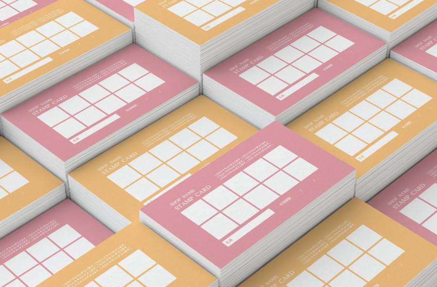 スタンプカードの無料デザインテンプレート【カラー 10個】見本