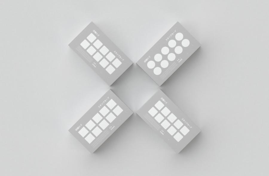 スタンプカードの無料デザインテンプレート【無地】見本
