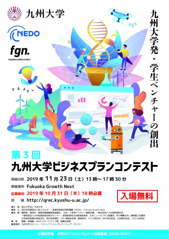 学生ビジネスプランコンテストのポスターデザイン_A1
