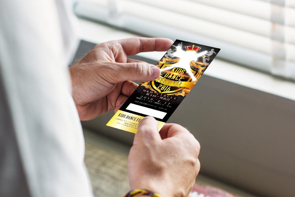 ダンスフェスティバルのチケット作成例