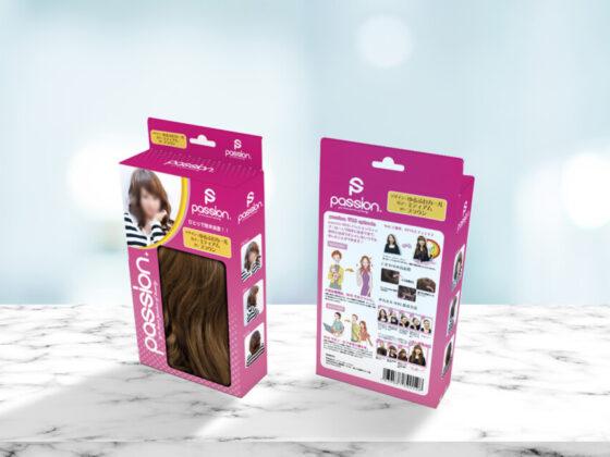 ウィッグブランドのパッケージデザイン作成例