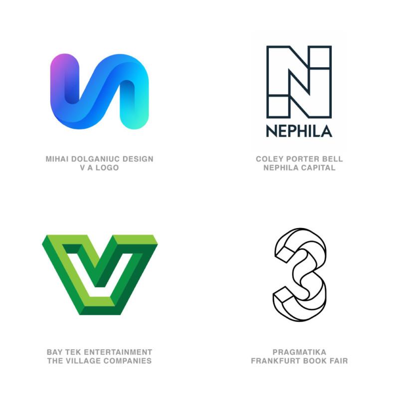 ロゴデザインのトレンド14【イリュージョン】
