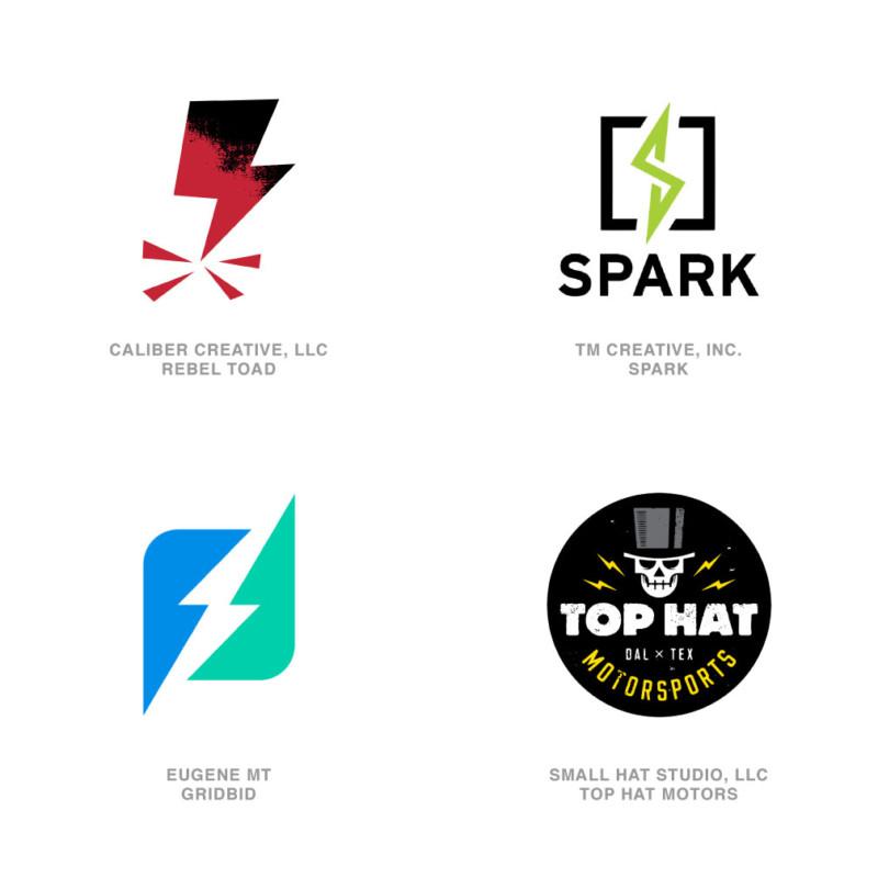 ロゴデザインのトレンド11【稲妻】