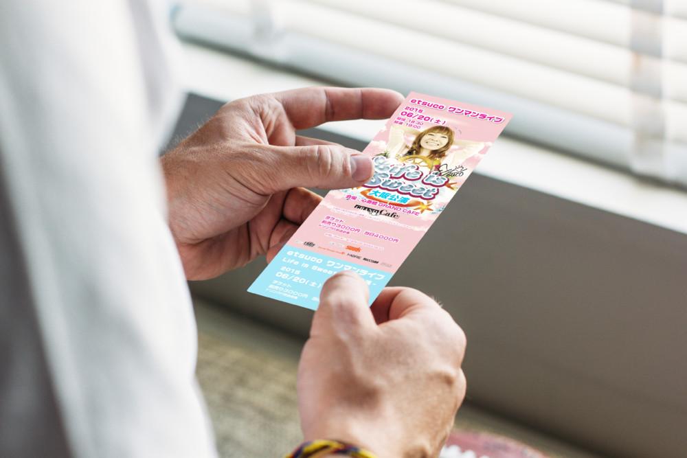 コンサートのチケットデザイン