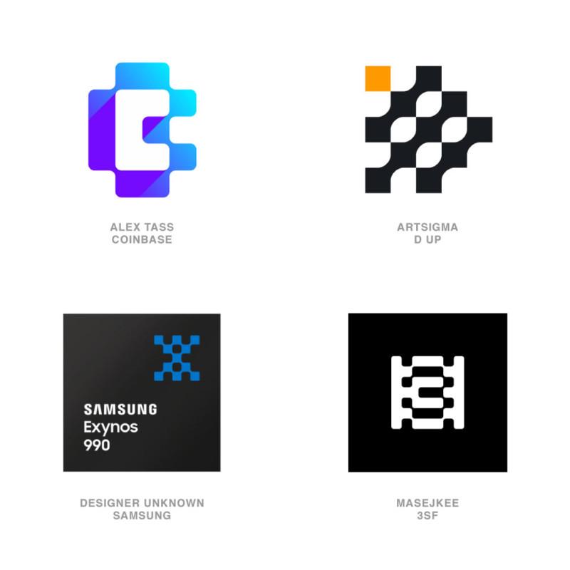 ロゴデザインのトレンド4【融合したチェック】