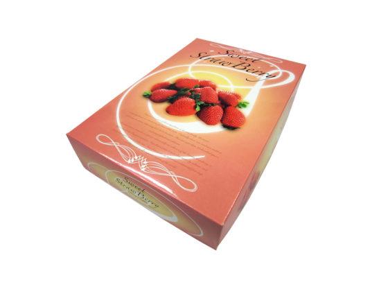 イチゴの贈答用パッケージデザイン