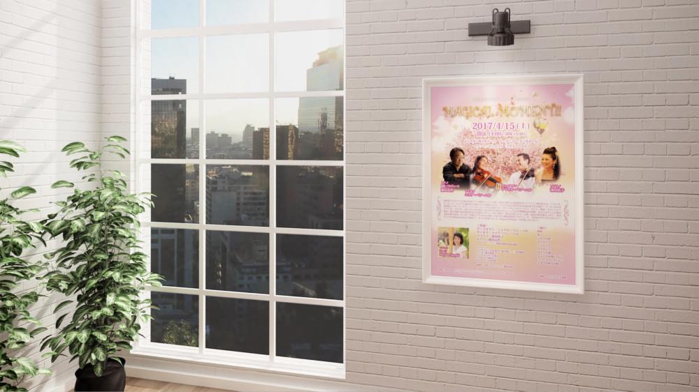 桜が華やかなコンサートのポスター作成依頼_02