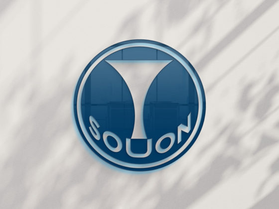 三味線サークルのミニマルなロゴデザイン