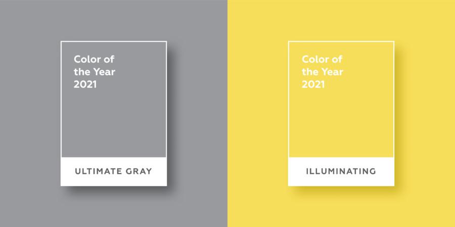 グレーとイエローが2021年の色
