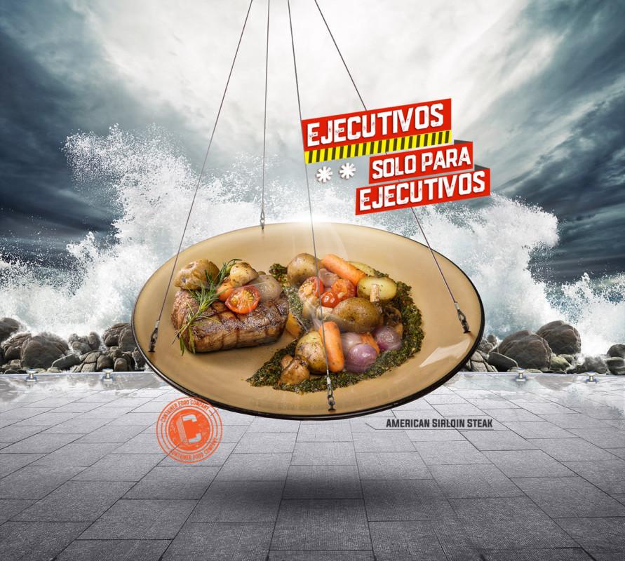 料理の広告デザイン