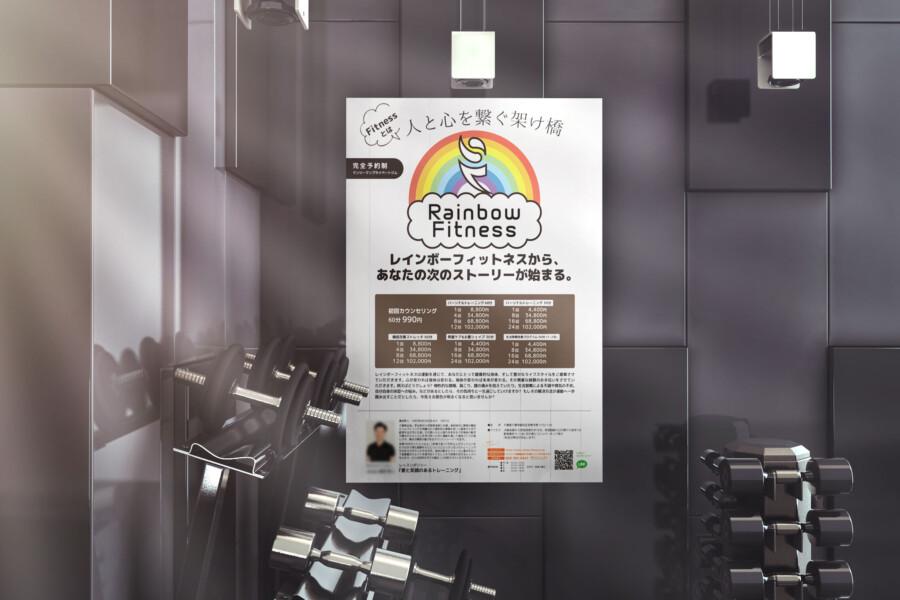 プライベートジムのポスターデザインイメージ