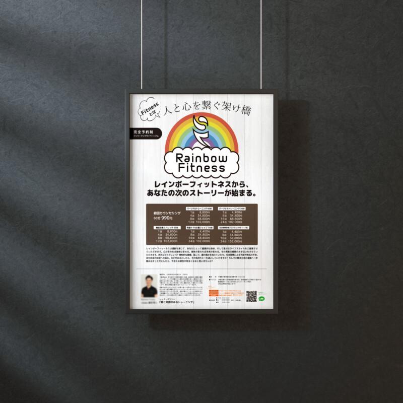 プライベートジムのポスターデザインイメージ2