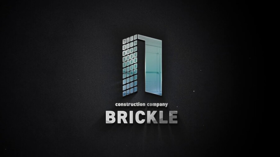 建設会社のモーションロゴデザイン