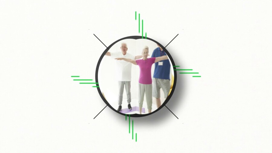 老人ホームのモーションロゴデザイン