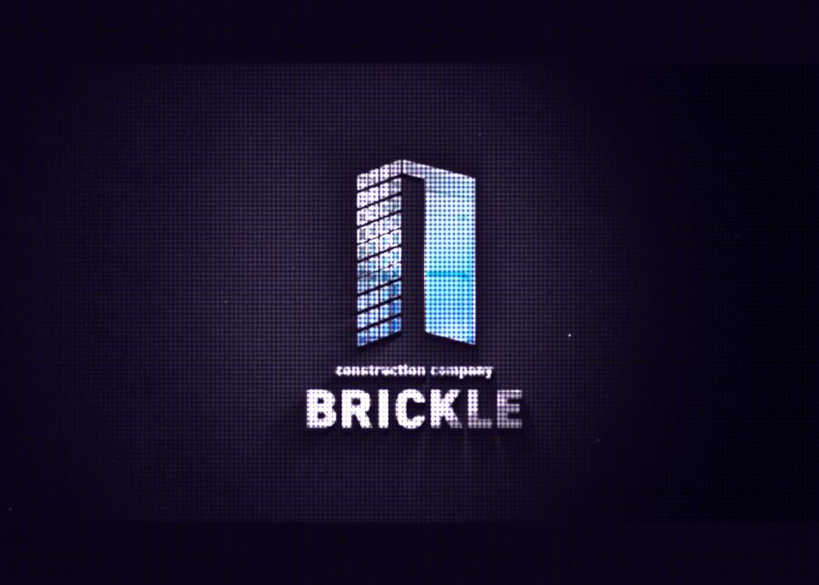 建設会社のモーションロゴ作成例_C