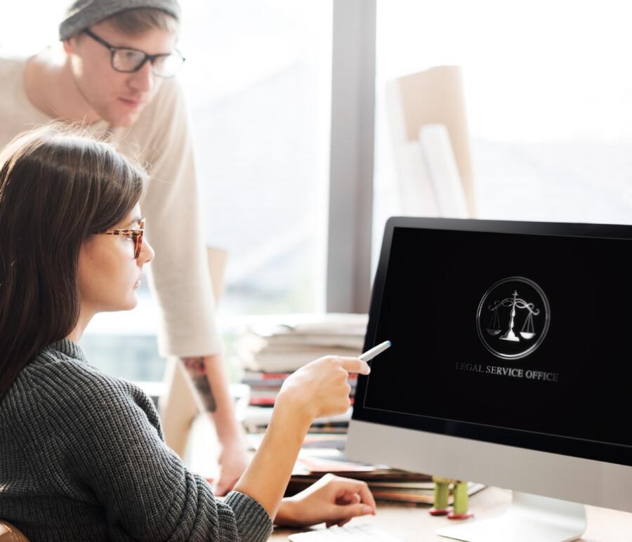 法律事務所のモーションロゴ作成例_C