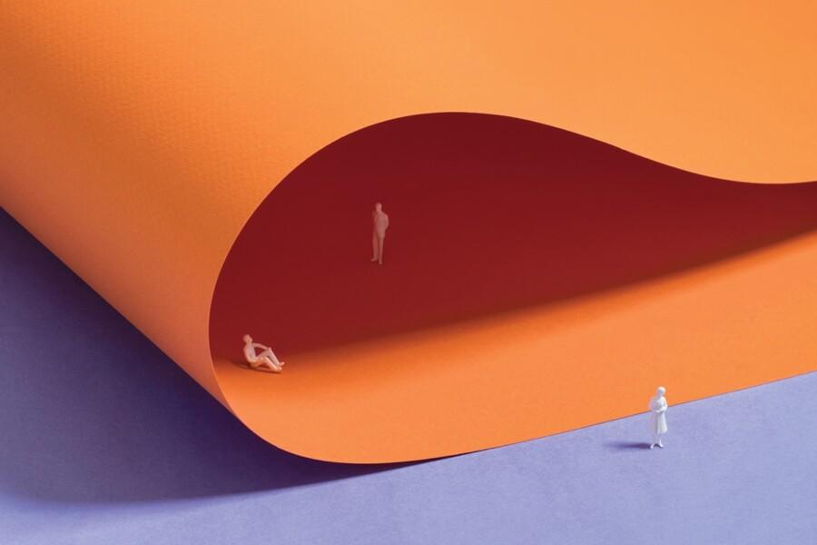 自由な発想を紙の柔軟性で表現したデザイン3