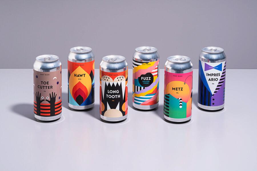 ビール醸造所のパッケージデザイン作成例2