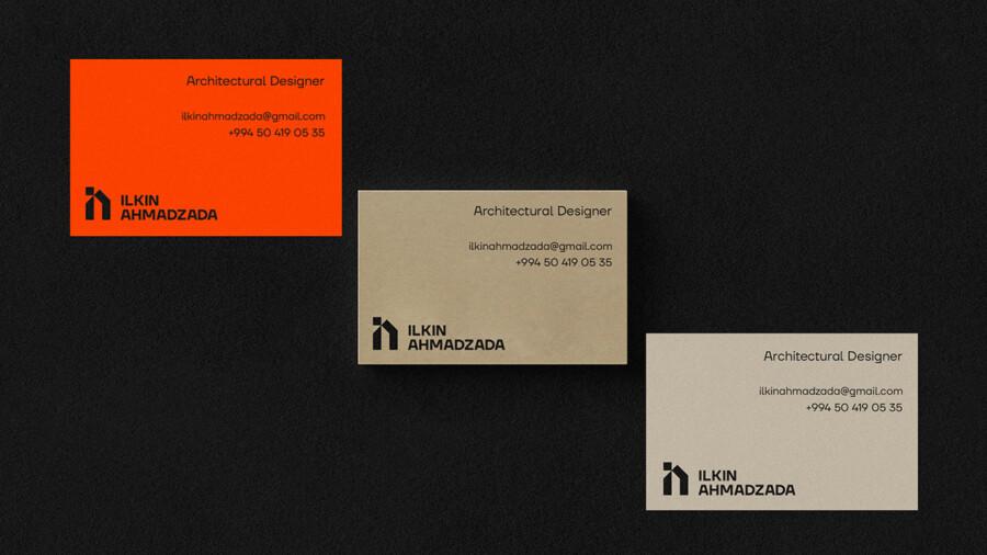 建築デザイナーのロゴ名刺デザイン