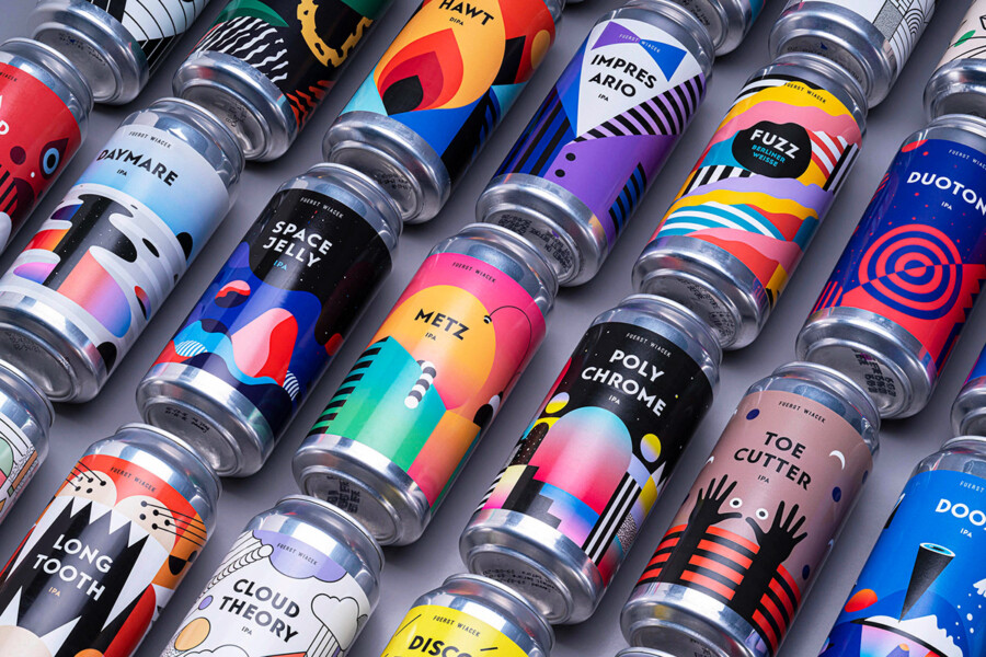 ビール醸造所のパッケージデザイン作成例1