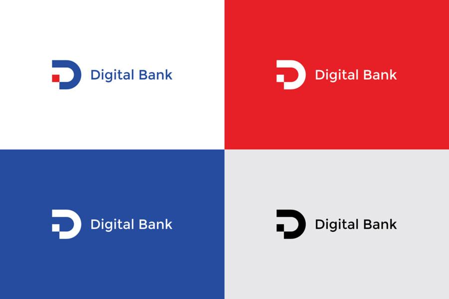 銀行のロゴデザイン作例