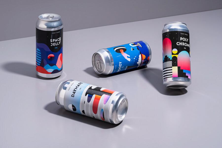 ビール醸造所のパッケージデザイン作成例3
