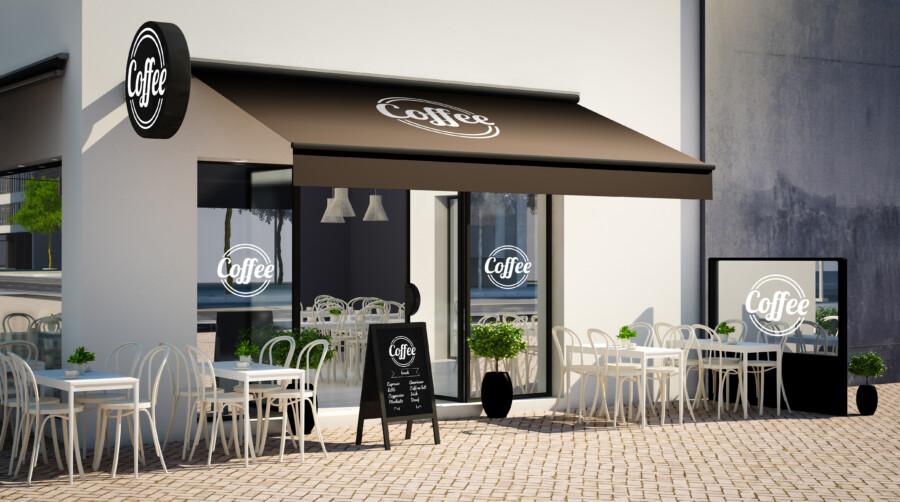 飲食店のロゴと看板デザイン