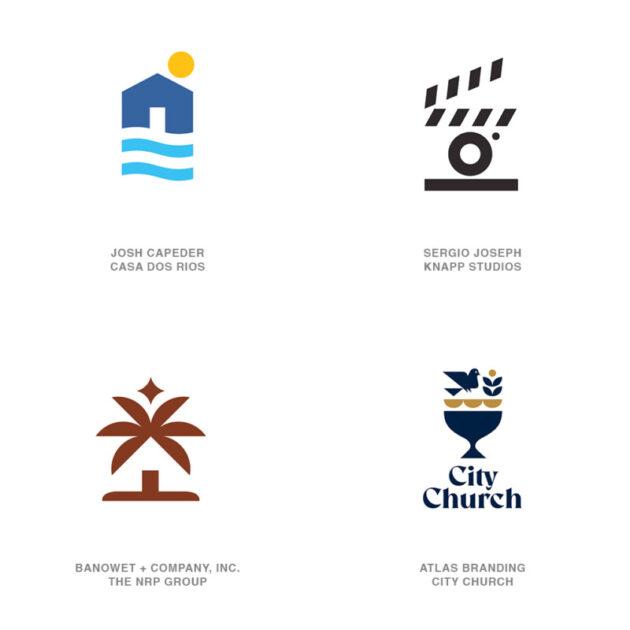 ロゴデザインのトレンド6【積み上げたアイコン】