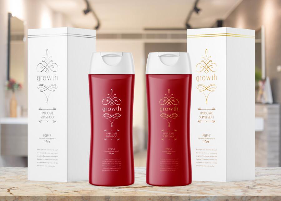 商品パッケージとボトルのデザイン作成例