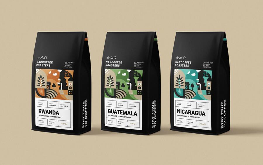 自家焙煎コーヒー豆のパッケージデザイン2